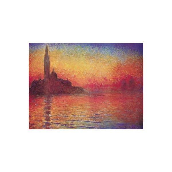 San Giorgio Maggiore by Twilight, Dusk in Venice, c1908 Poster