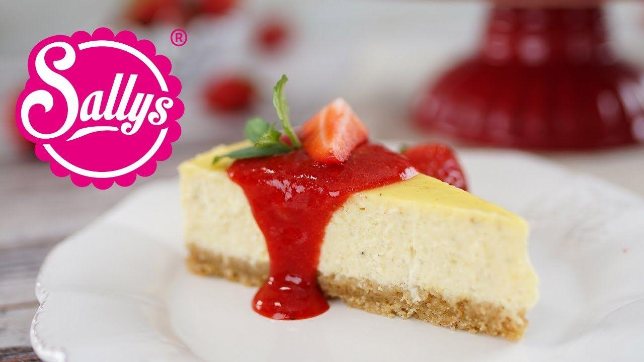 New York Cheesecake mit Erdbeersoße / extra cremig | Kuchen/Torten ...