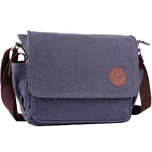 OXA Vintage Canvas Messenger Bag Shoulder Bag Laptop Bag ipad Bag Book Bag  Satchel School Bag 73af0cc0e1130