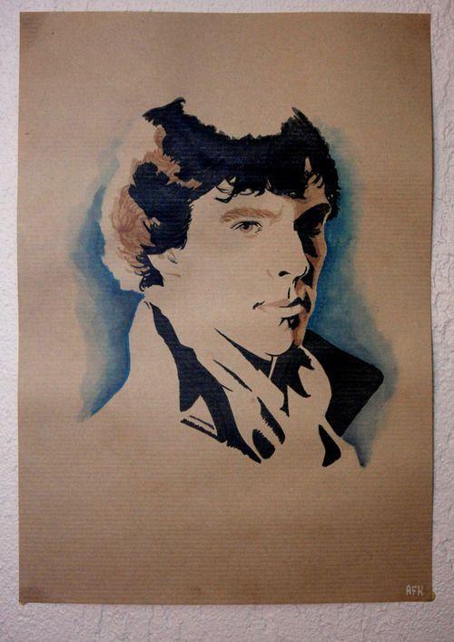 Sherlock Holmes Benedict Cumberbatch Sherlock Papier Kraft