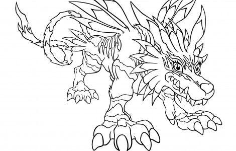 Digimon Coloring Pages Print Manga Wallpaper Malvorlagen Vorlagen