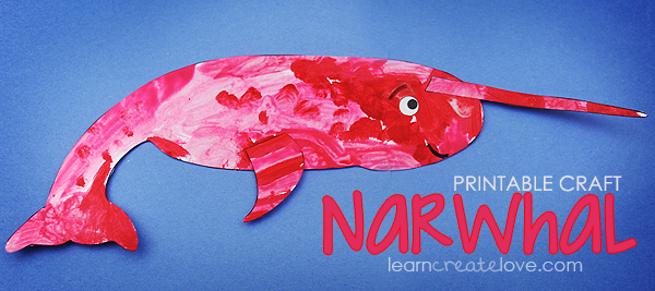 Printable Narwhal Craft Narwhal Preschool Crafts Winter Animals Preschool