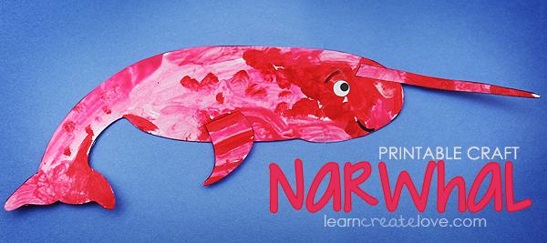Printable Narwhal Craft Narwhal Preschool Crafts Winter Animals Preschool