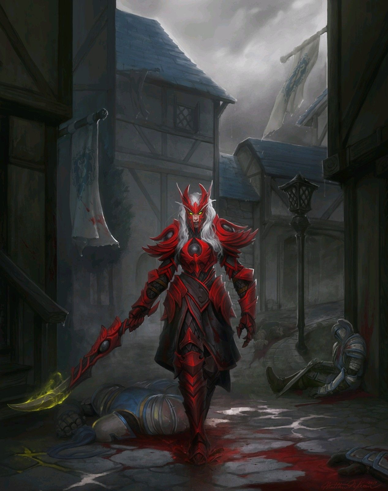 Blood Elf Warrior World Of Warcraft In 2019 Warcraft Art World
