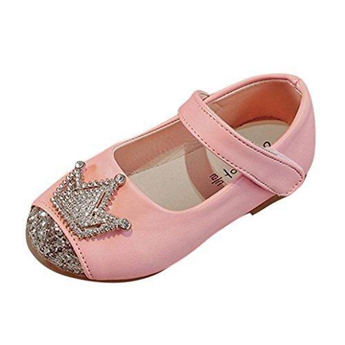 ?–?Zapatillas de mujer, zapatos, brillantes, lino zapato rosa, color Rosa, talla 38 EU