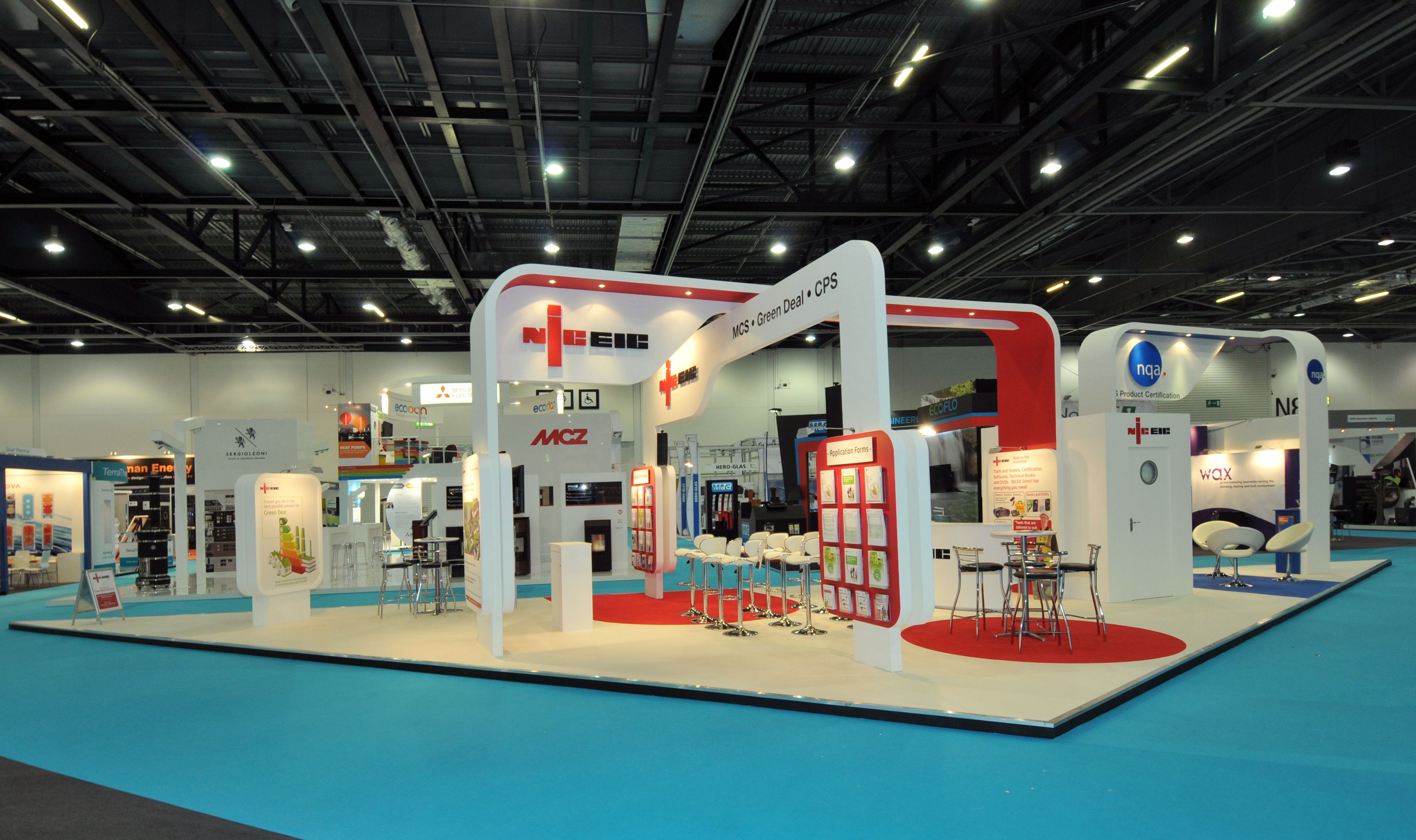 Big Exhibition Stand Design : Think big stand for niceic aboveline exhibition stand