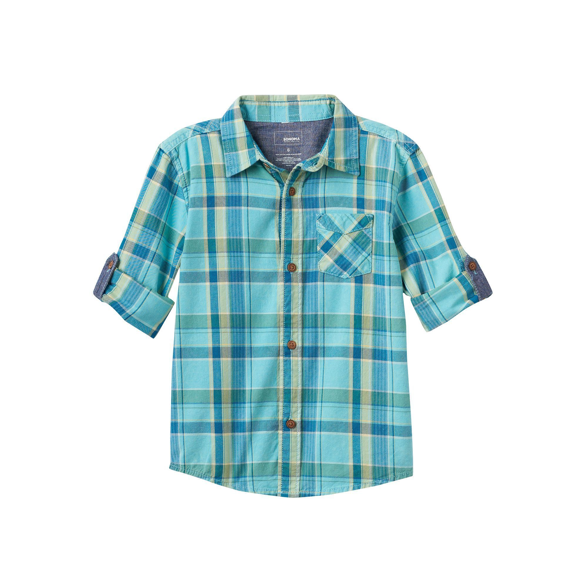 Flannel shirts at kohl's  SONOMA Goods for Life Boys  SONOMA Goods for LifeTM Plaid Shirt