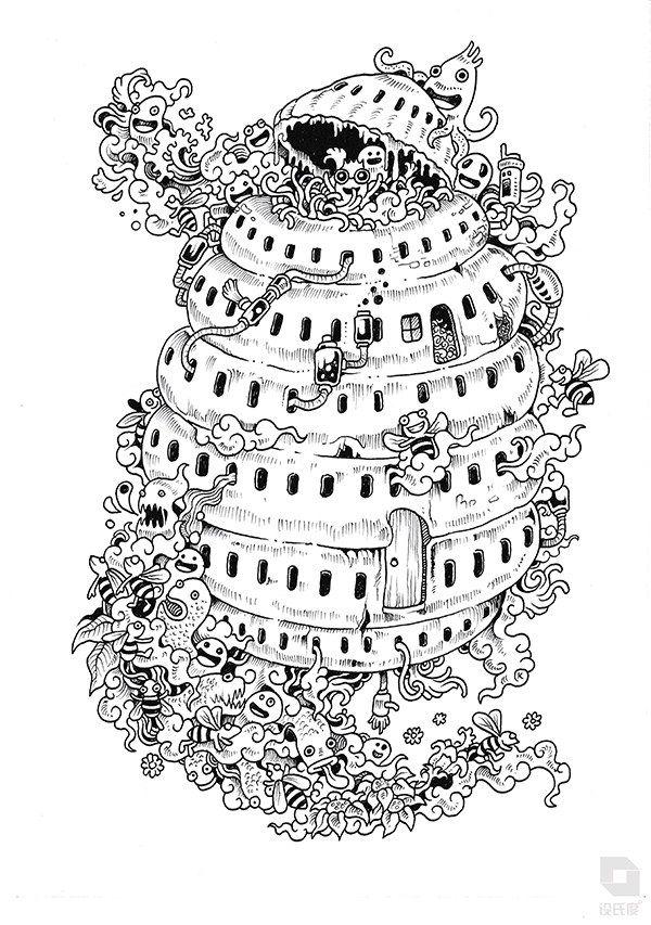 Doodle Invasion: Zifflin\'s Coloring Book | Coloring | Pinterest ...