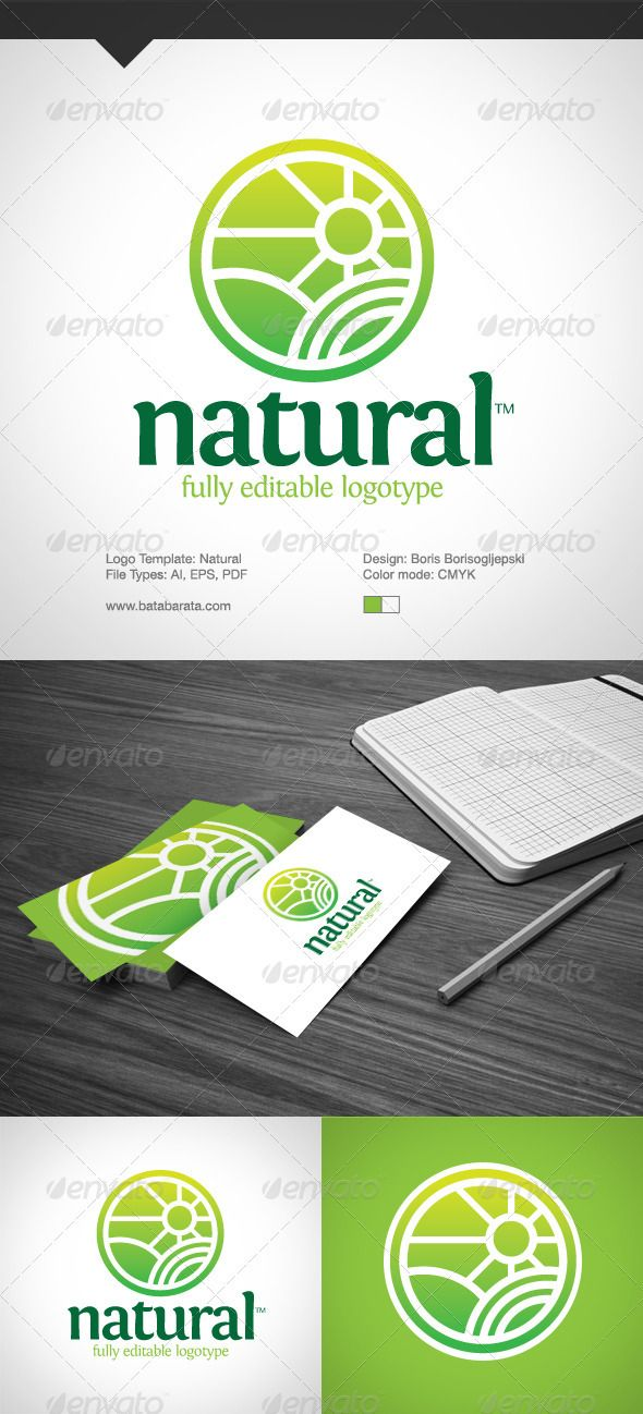 Natural Logotype #GraphicRiver Natural – Logo Template Fully