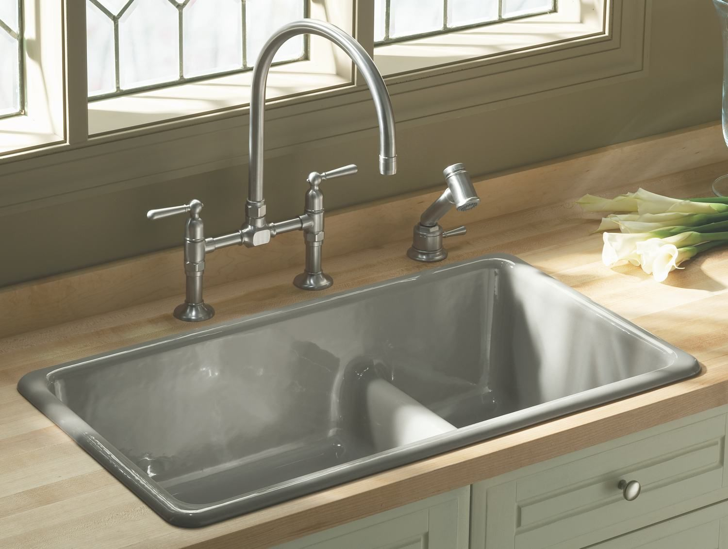 Kohler Kitchen Sinks With A Decorative Shape