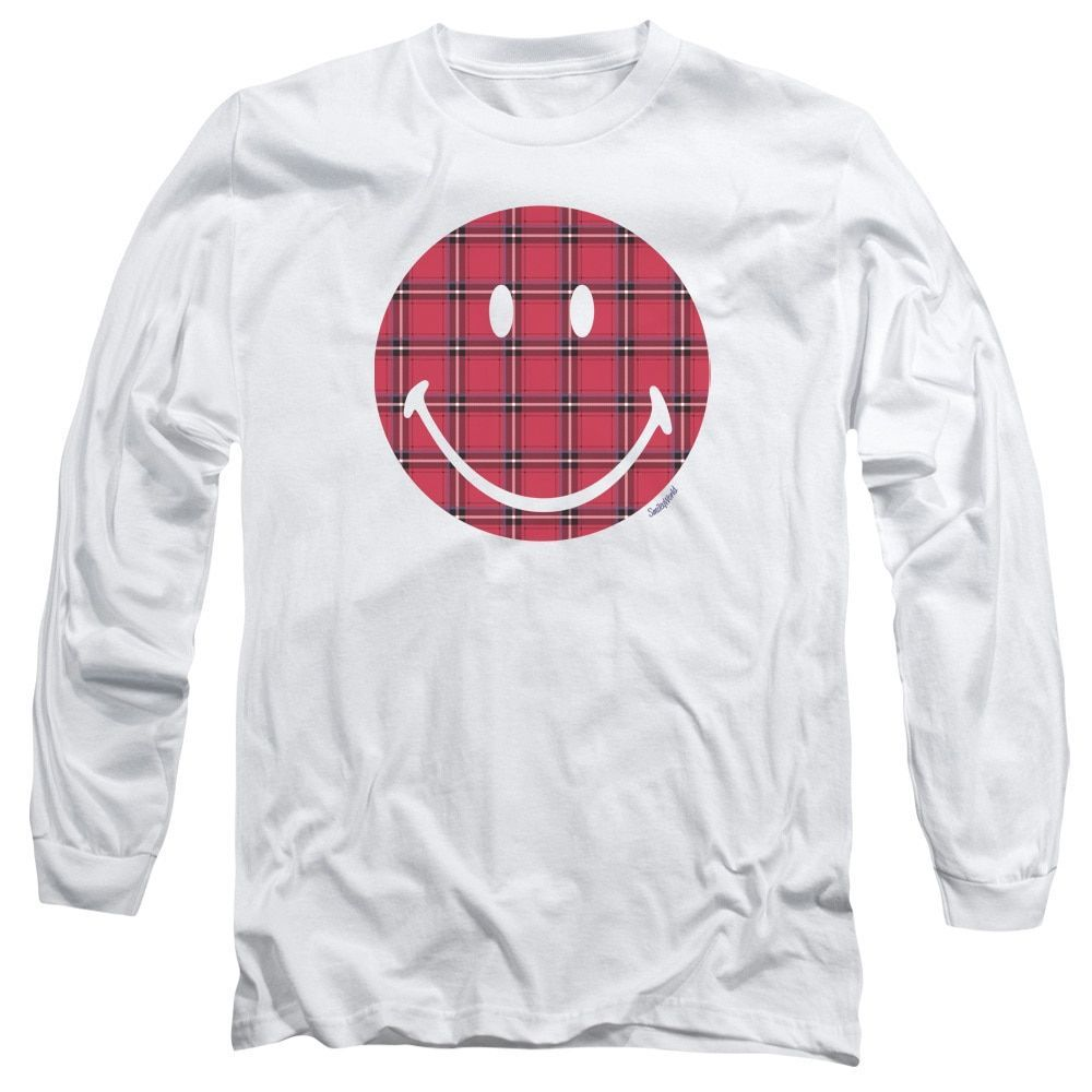 Smiley World/ Face Long Sleeve Adult T-Shirt 18/1 in