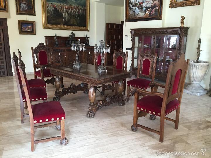 Comedor antiguo renacimiento nogal | COLECCION MUEBLES ANTIGUOS ...