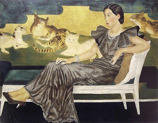 Portrait De Madame Y 1935 By Leonard Tsuguharu Foujita French