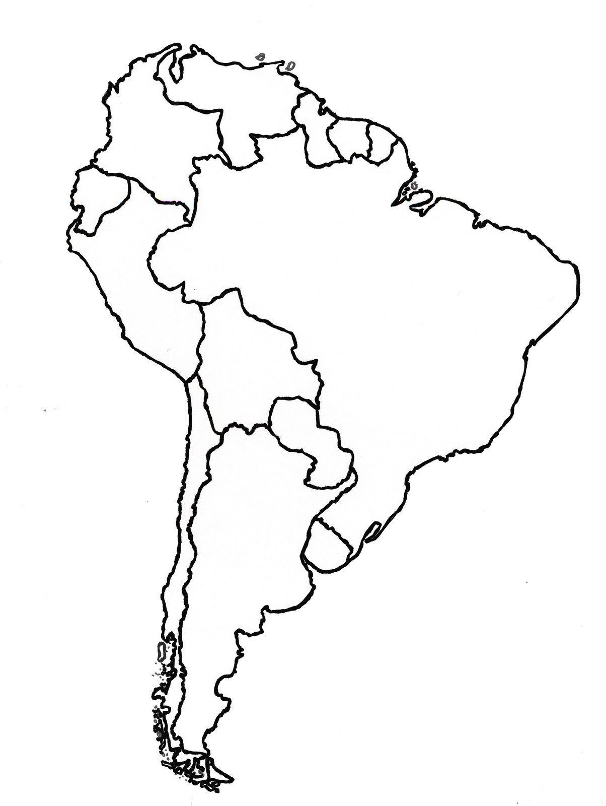 Mapa America Del Sur Politico Para Imprimir Mapa De America