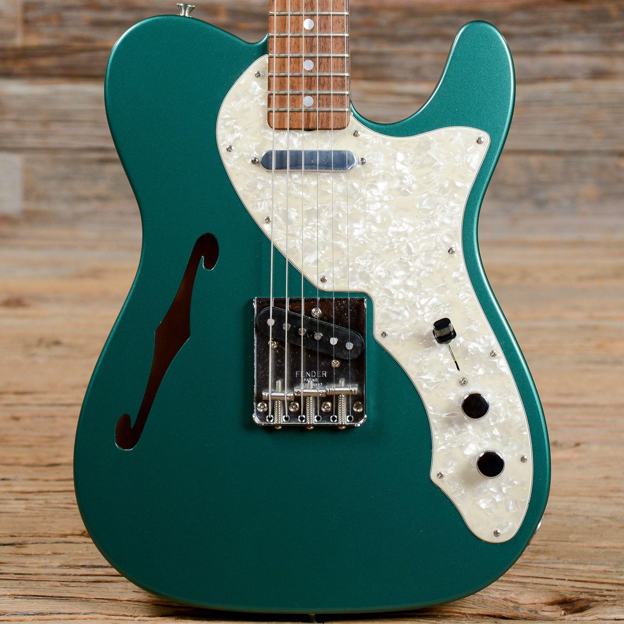 fender custom shop telecaster thinline 69 reissue sherwood green 2012 s806 guitar. Black Bedroom Furniture Sets. Home Design Ideas