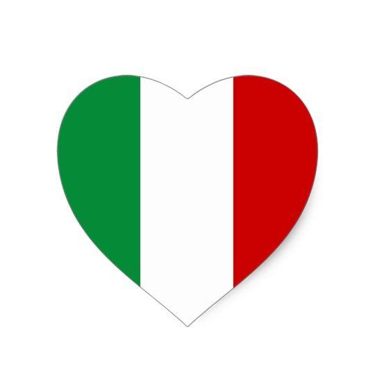 Heart Stickers Flag Of Italy Italian Il Tricolore Zazzle Com Sticker Flag Italy Flag Heart Stickers