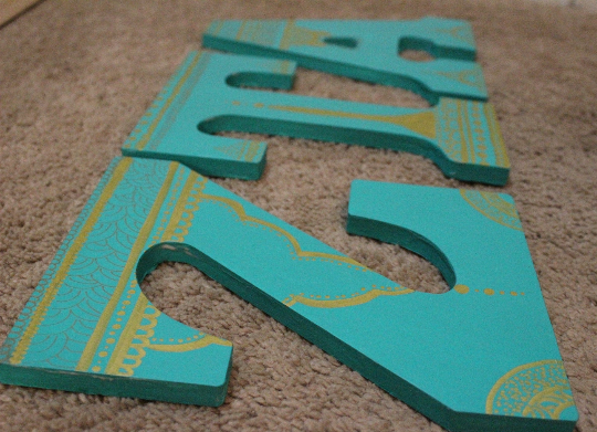 Custom Decorated Wooden Letters Etsy Wooden Letters Lettering