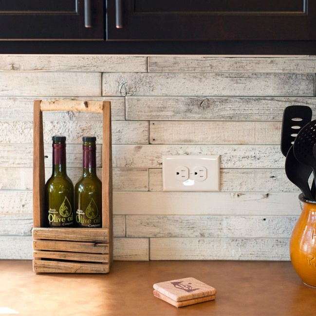 Find this Pin and more on E&S Wood Tile. Reclaimed ... - We Love This Reclaimed Wood Architectural Wall Tile Backsplash