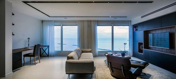A modern minimalist apartment in tel aviv