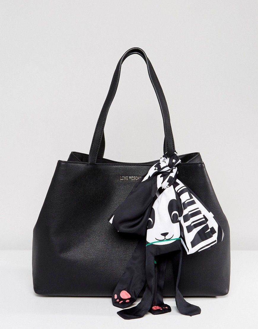 944000f36c265 Love Moschino Shopper Bag With Panda Accessory | Products | Shopper ...