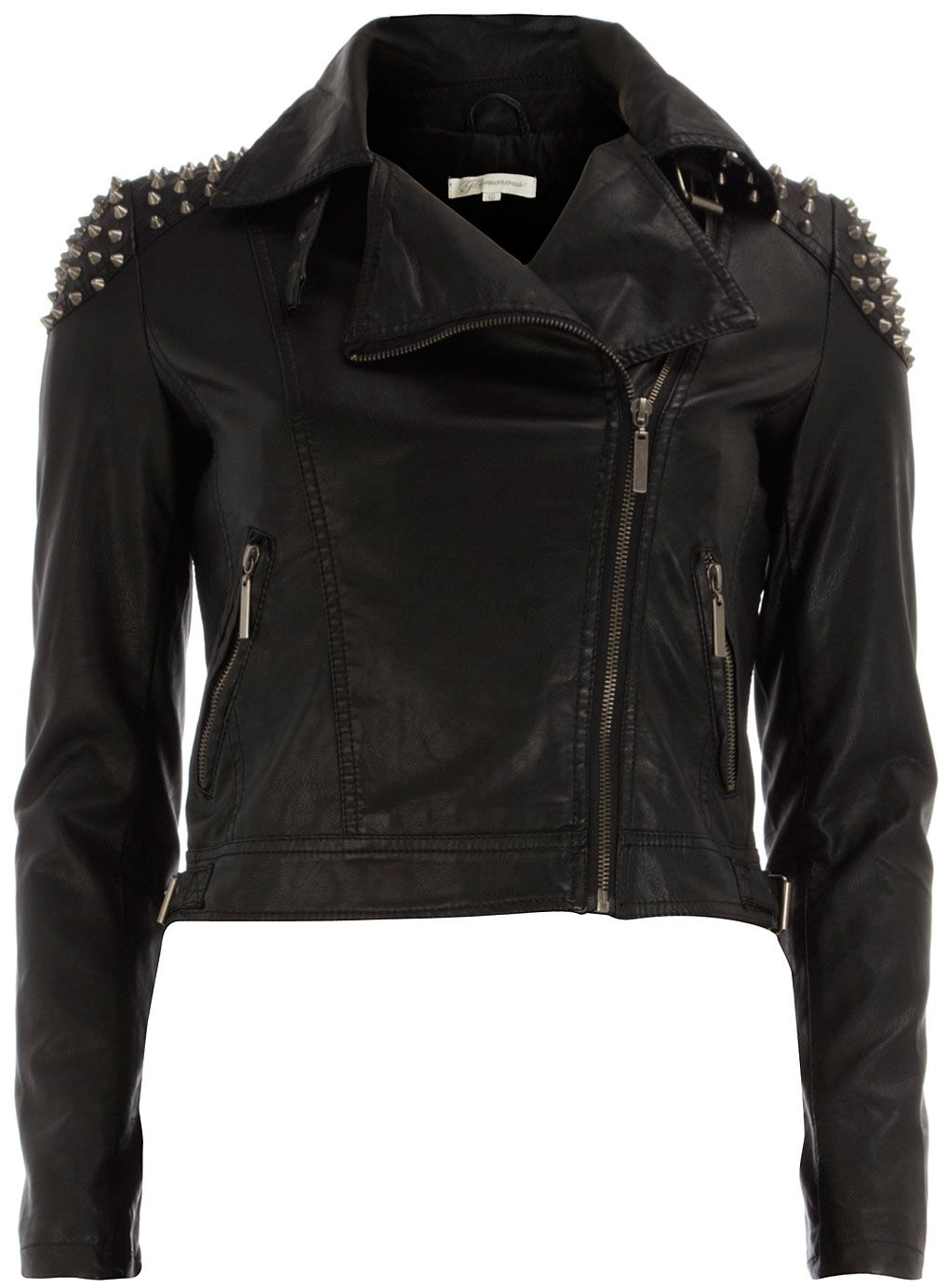 Celebrities who wear, use, or own Dorothy Perkins Black Stud PU Biker  Jacket. Also discover the movies, TV shows, and events associated with Dorothy  Perkins ...