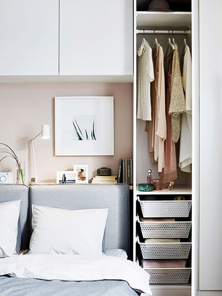 How To Make Your Apartment Feel 10 Times Bigger According To Ikea Cozy Small Bedrooms Small Bedroom Storage Bedroom Storage For Small Rooms