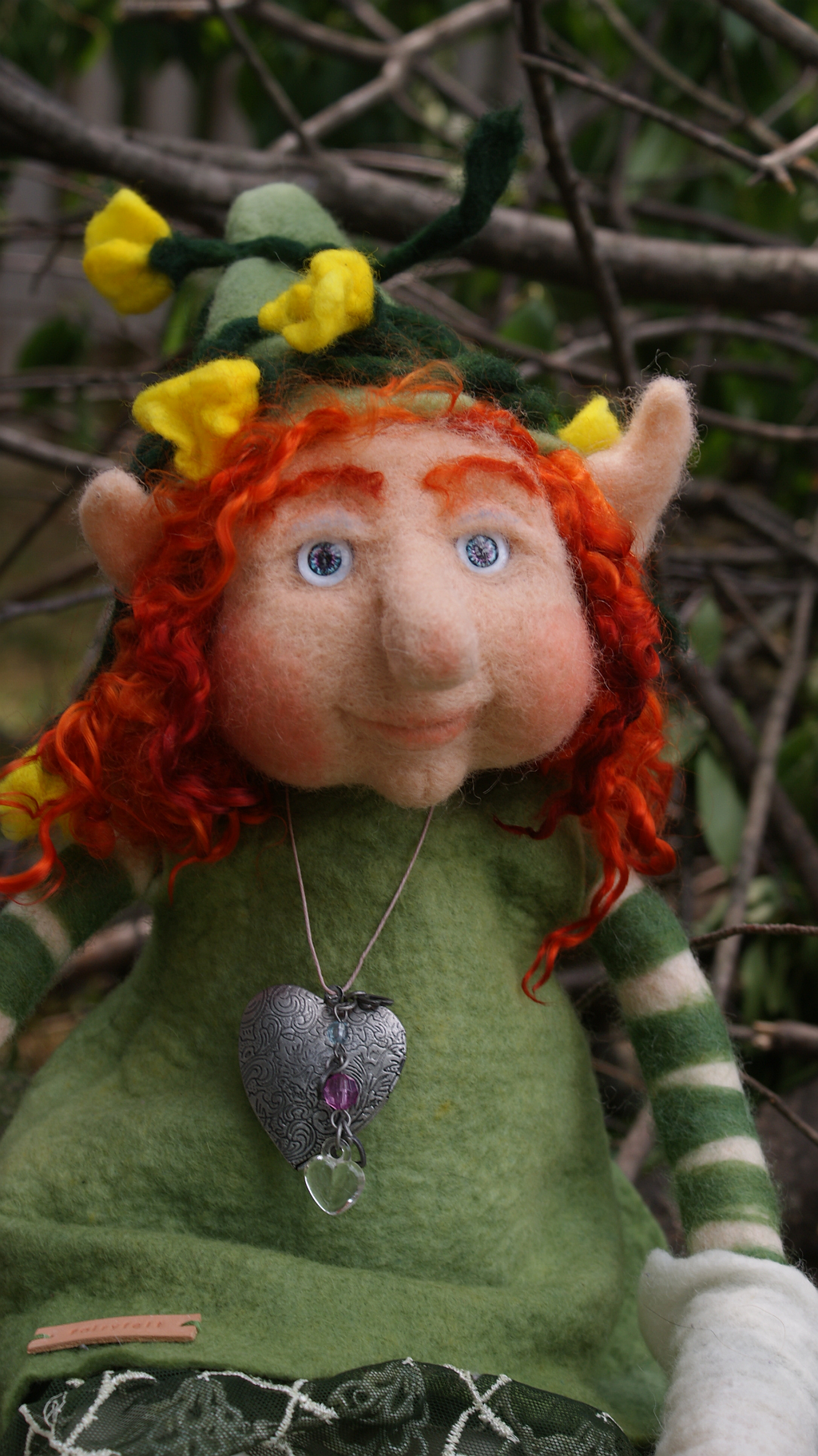 Shana, felted Elf (With images) Christmas ornaments