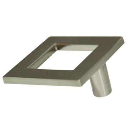 Nickel Effect Square Cabinet Handle: Image 1
