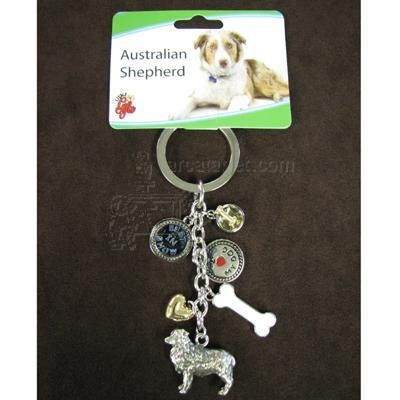 Australian Shepherd Key Ring