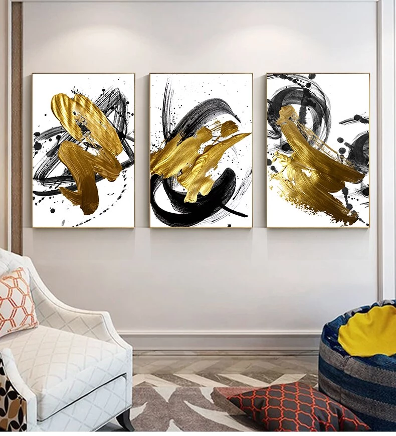 Abstract Golden Swirls Luxury Nordic Contemporary Wall Art Fine Art Canvas Prints Modern Pictures In 2020 Diy Canvas Art Contemporary Wall Art Wall Art Pictures
