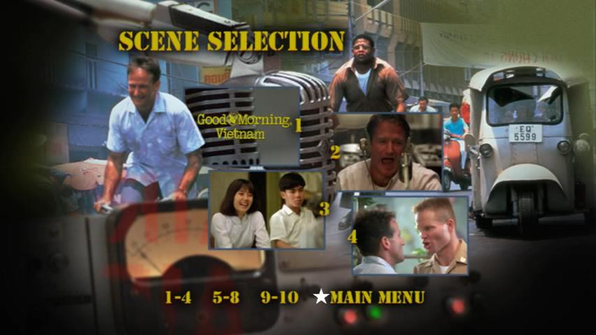 Good Morning, Vietnam DVD scene selection menu