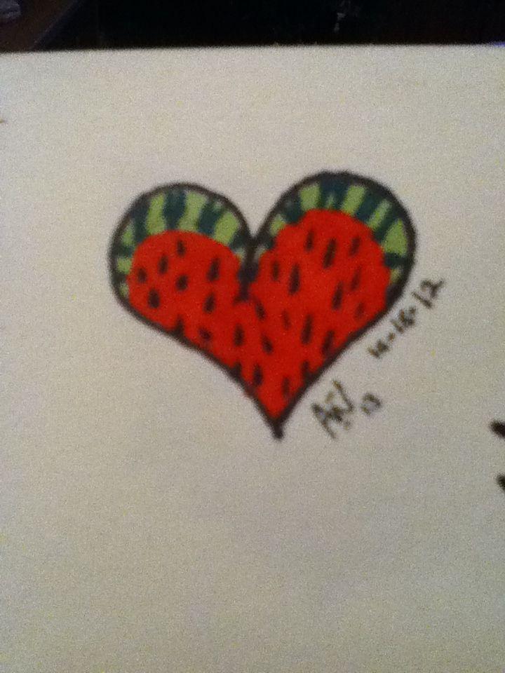Watermelon heart by Abigail Wells