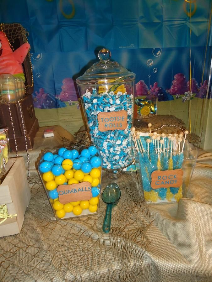 spongebob candy table beach or pool party ideas spongebob rh pinterest com  spongebob candy table