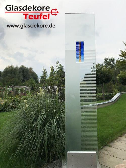 Sichtschutz Stele Glas Im Garten Pinterest