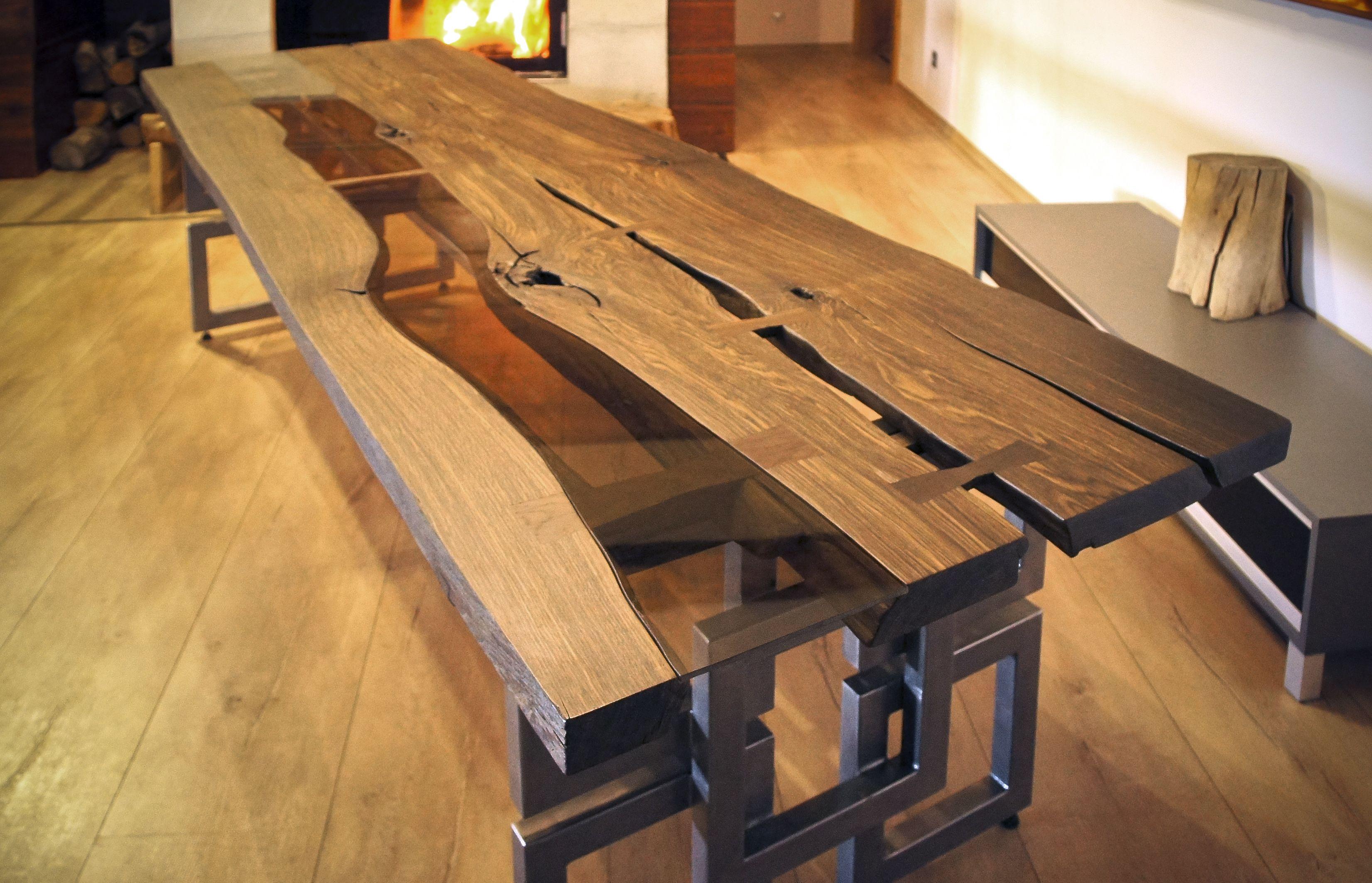 Alter Küchentisch ~ Tisch aus mooreiche das schwarze eichenholz лофт мебель pinterest