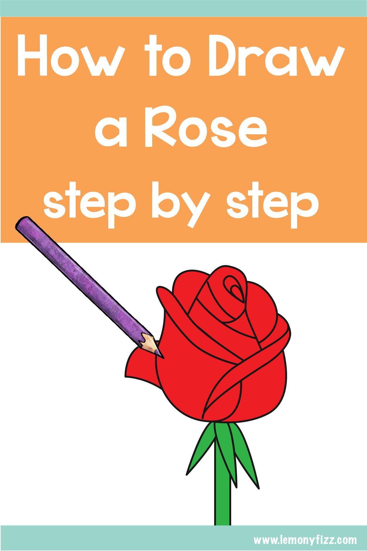 Easy How To Draw A Rose Step By Step Tutorial Rose Step By Step Bullet Journal Layout Flower Step By Step