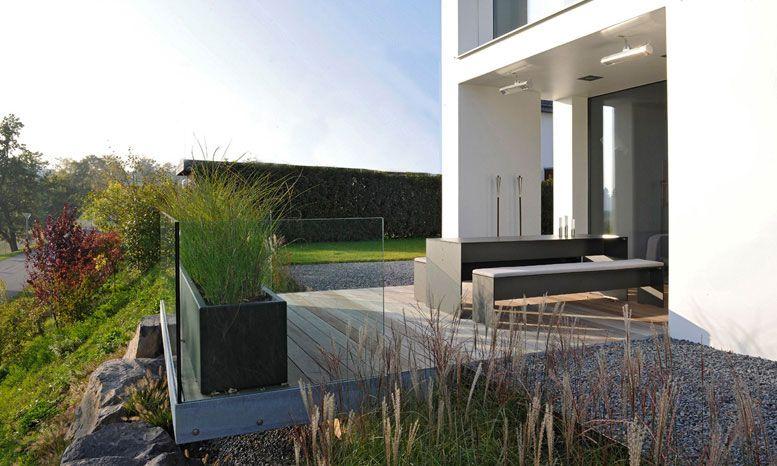 Pin von Felicia van auf Zaun Pinterest Eingang, Zäune und - gartengestaltung hanglage modern