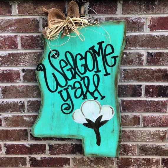 Mississippi Welcome Yall Door Hanger  Hanger Doors And Couples