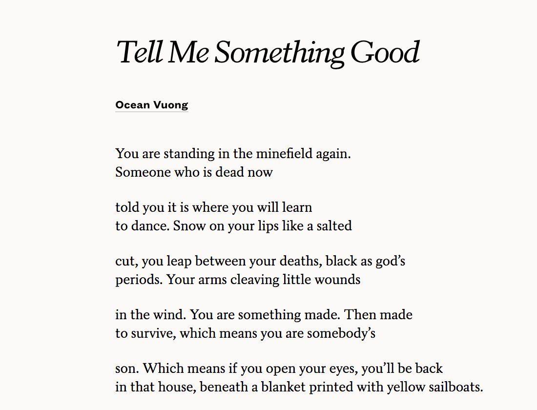 Ocean Vuong Poems 5