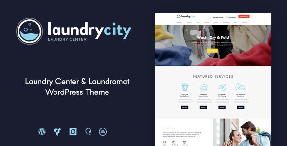 Laundry City Dry Cleaning Laundry Services Wordpress Theme