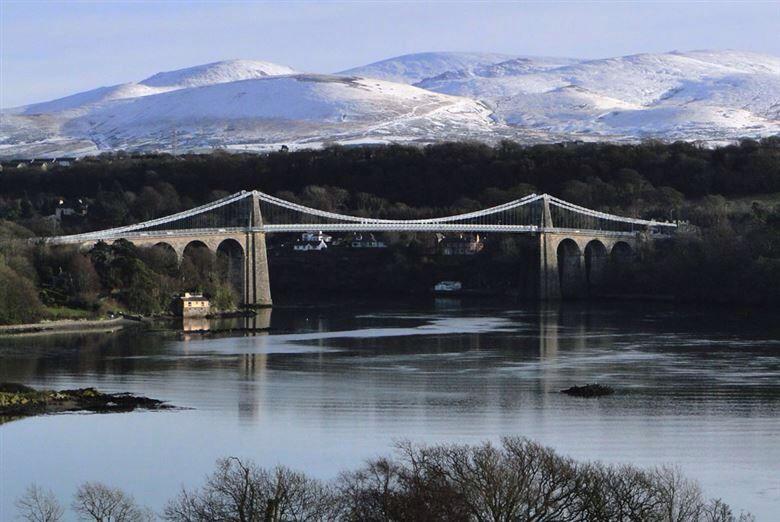 Menai Suspension Bridge Anglesey, Wales