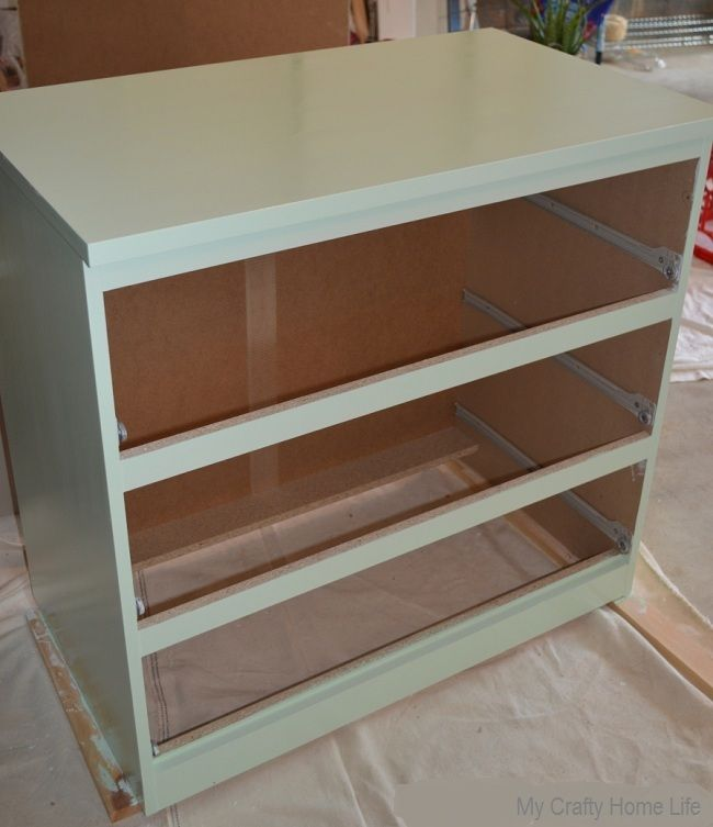 My Crafty Home Life Minty Malm Ikea Hack Removing Toe