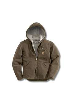 Carhartt Mens J141 Sandstone Sierra Sherpa Lined Jacket - Marsh | Buy Now at camouflage.ca