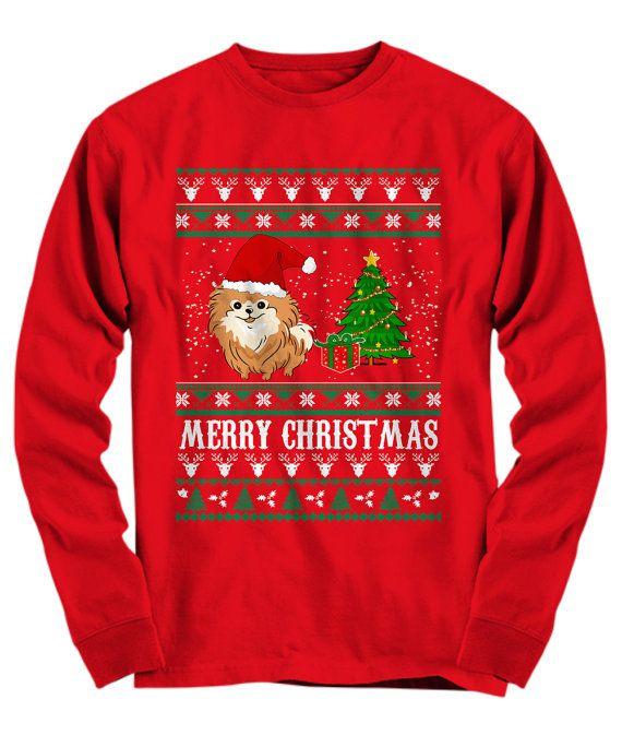 Christmas is Better with a Pomeranian, Pomeranian Clothes, Pomeranian Sweatshirt, Ugly Christmas Sweater
