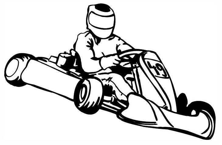 10 Coloriage Karting