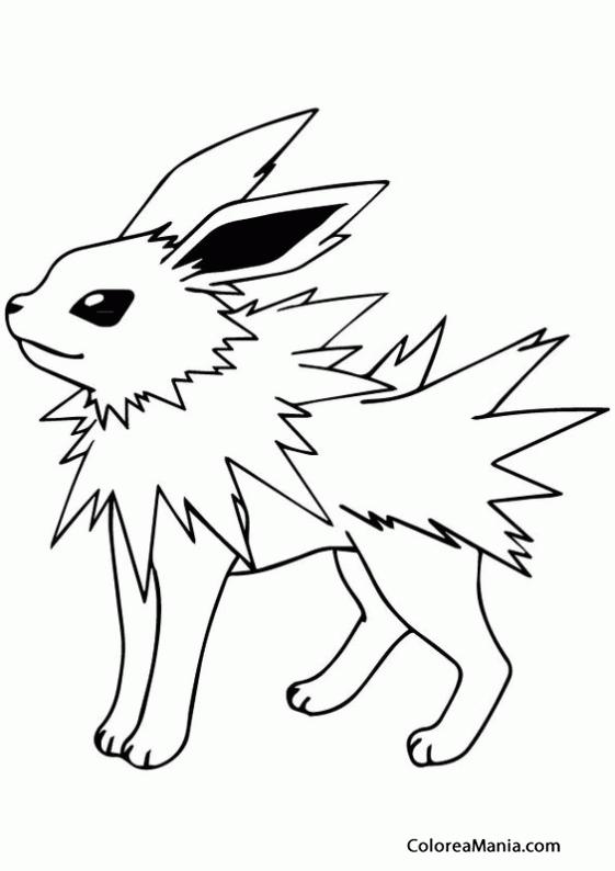 colorear pokemon jolteon 2  pokemon   dibujo para colorear