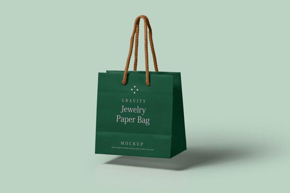 Download Floating Paper Shopping Bag Mockup Bag Mockup Bags Paper Bag Design