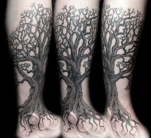 Jonny Breeze Tattoos Tree Leg Tattoo Tree Tattoo Calf Oak Tree Tattoo