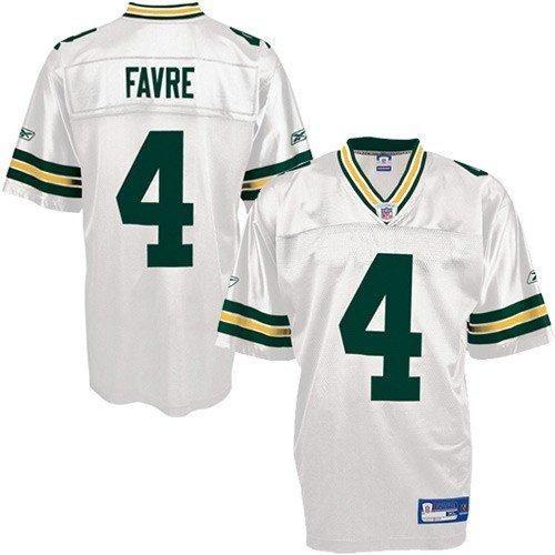 big sale 2ec08 17d4f Reebok NFL Equipment Green Bay Packers #4 Brett Favre White ...