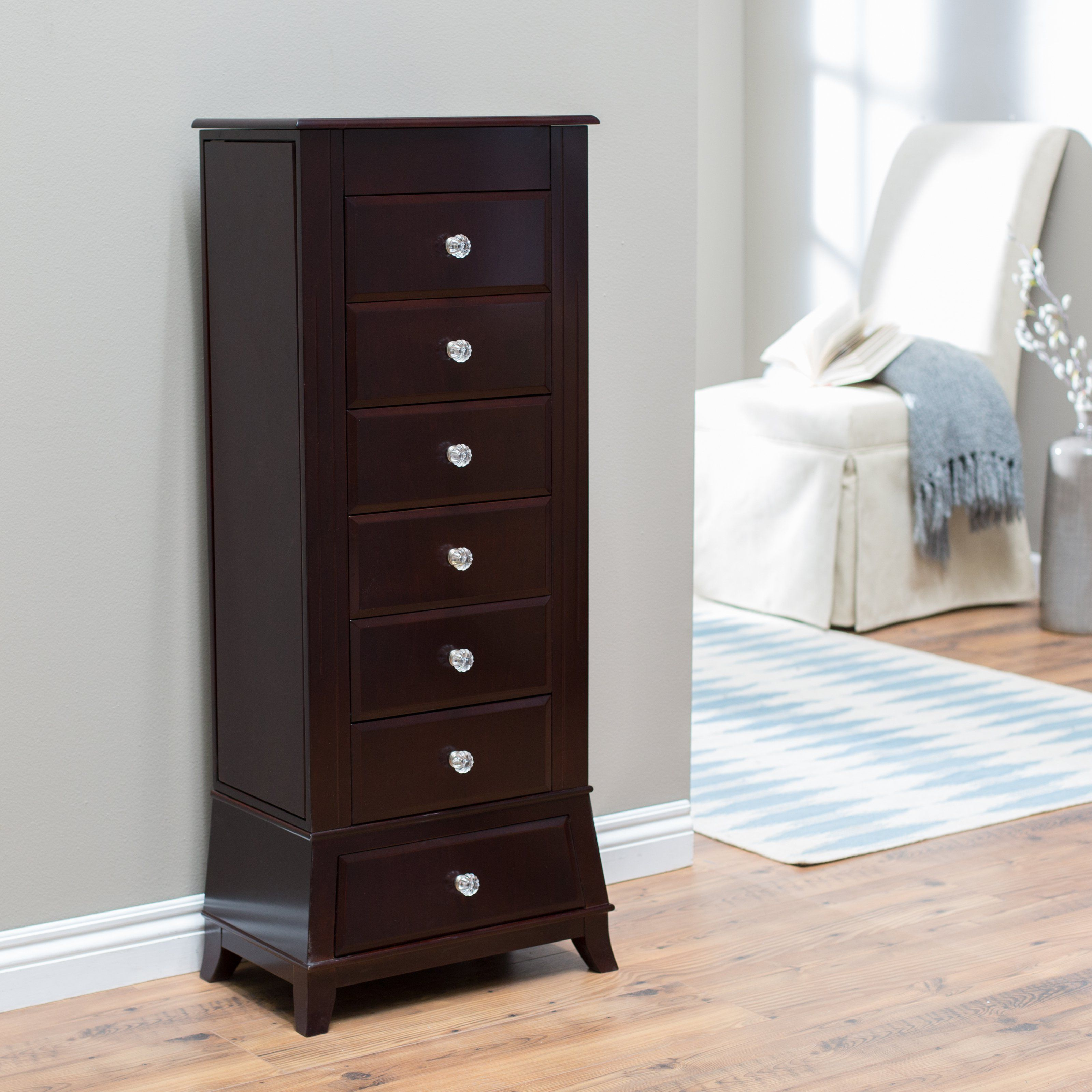 Holland House 2697 6 Drawer Jewelry Chest Royal Furniture